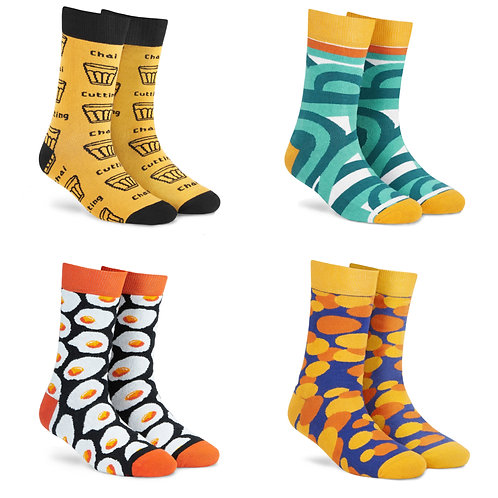 Dynamocks Cotton Excellence Socks | India | #3 Super Saver Pack | Unisex Crew Length Socks | Pack of 4 Pairs