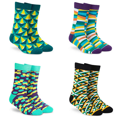 Dynamocks Cotton Excellence Socks | India | #8 Super Saver Pack | Unisex Crew Length Socks