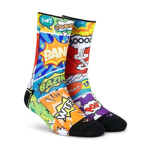 Dynamocks Artistic Socks | India | Comic Crash Crew Length Socks R