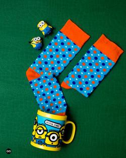 Dynamocks Polka Dots Men & Women Crew Length Socks