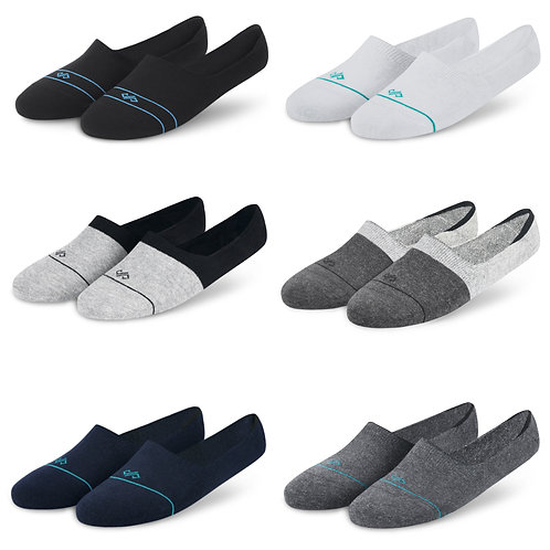 Dynamocks Invisibles Socks | India | Essentials Collection Pack of 6 Pairs