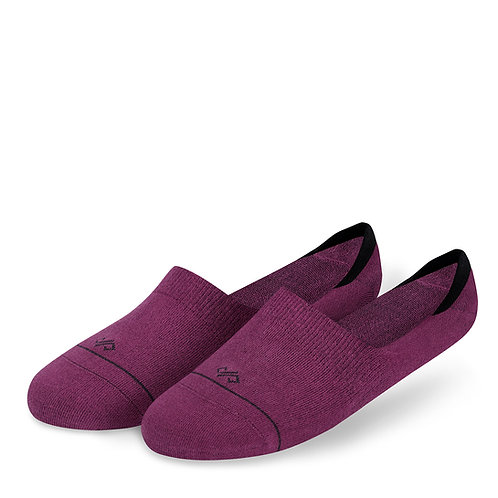 Dynamocks Invisibles Socks   India   Solids Collection   Wine