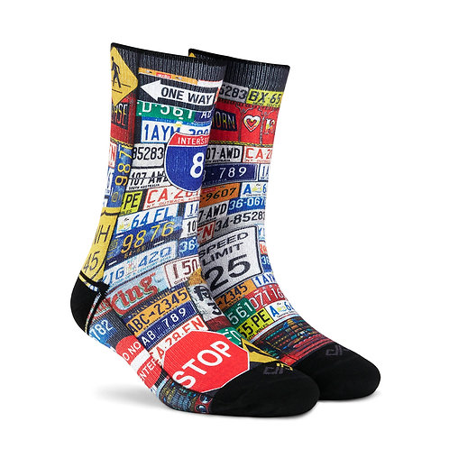 Dynamocks Artistic Socks | India | Roadster Crew Length Socks R