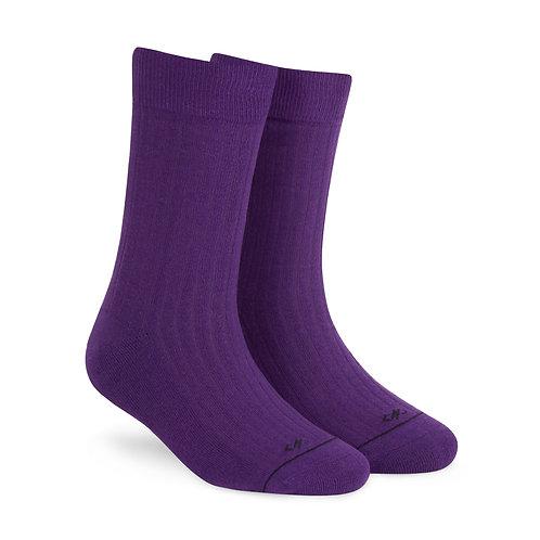 Dynamocks Savvy Excellence Socks | India | Solid Purple Crew Length Socks R