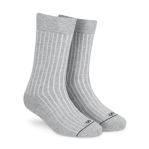 Dynamocks Savvy Excellence Socks | India | Solid Grey Melange Crew Length Socks R