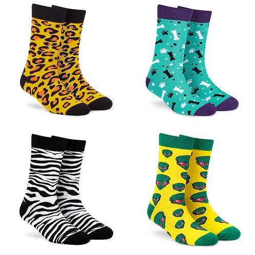 Dynamocks Cotton Excellence Socks | India | #6 Super Saver Pack | Unisex Crew Length Socks