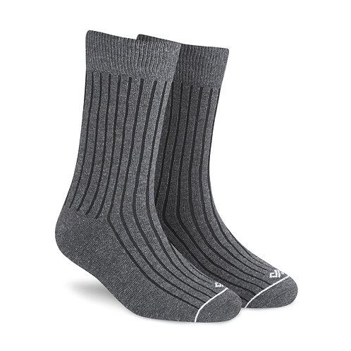 Dynamocks dark grey crew length socks for men & Women right angle