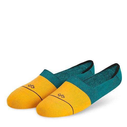 Dynamocks Invisibles Socks | India | Dual Solid Yellow & Green