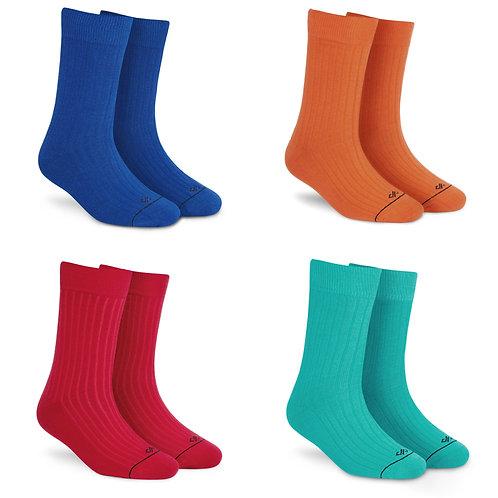 Dynamocks Solid Crew Socks - Pack of 4 Pairs