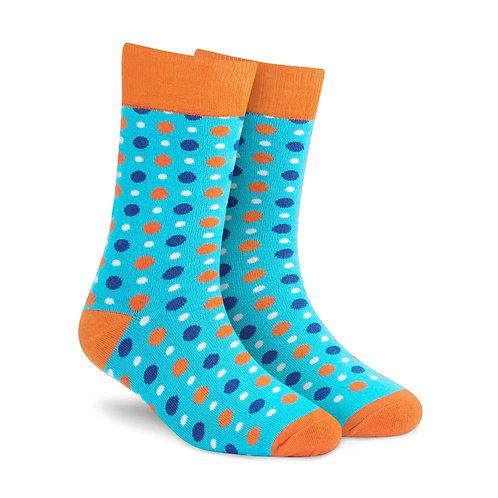Dynamocks Fizzy Aqua Crew Length socks for men and women India