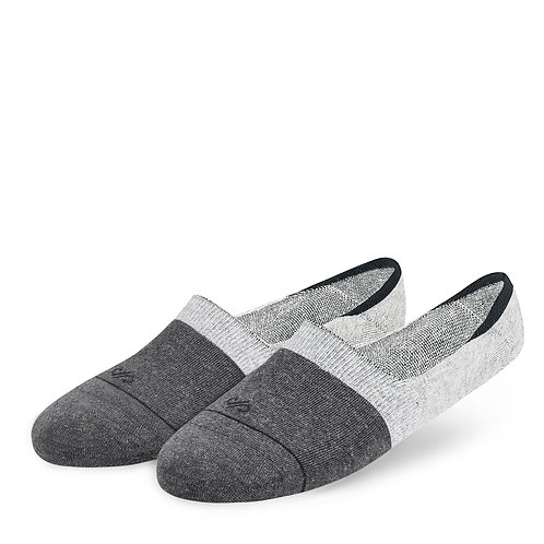 Dual solid loafer socks for men and women - grey