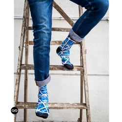 Dynamocks Aqua Celestia Men & Women Quarter Ankle Length Socks
