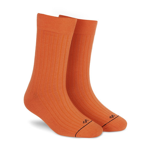 Dynamocks Savvy Excellence Socks | India | Solid Orange Crew Length Socks R