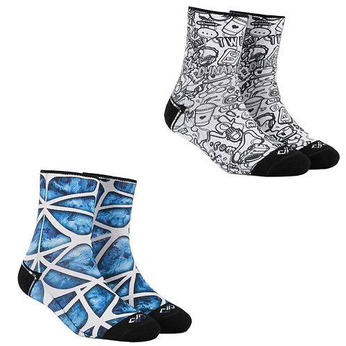 Dynamocks Artistic Socks | India | #8 Super Saver Pack | Unisex Quarter Ankle Length Socks | Pack of 2 Pairs
