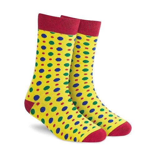 Dynamocks Fizzy Yellow Crew Length socks for men and women India