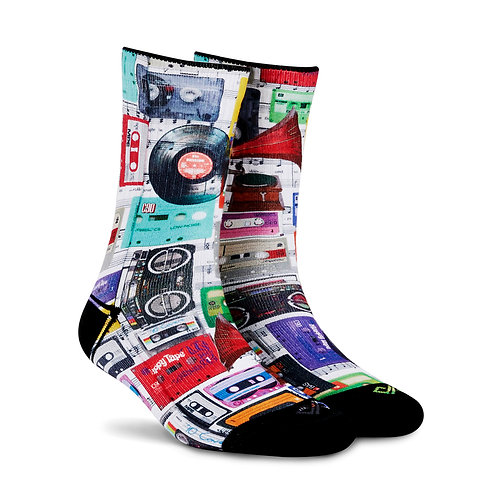Dynamocks Artistic Socks | India | Cassettes Crew Length Socks L