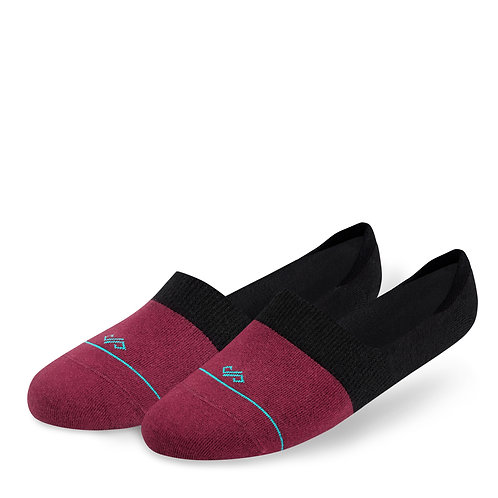 Dynamocks Invisibles Socks | India | Dual Solid Collection | Maroon + Black
