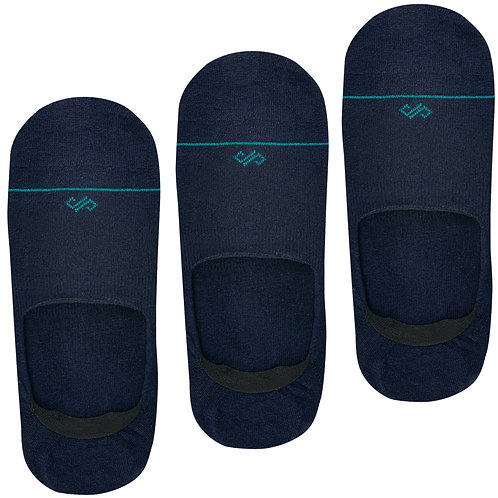 Dynamocks Invisibles Socks | India | Navy Blue Pack of 3
