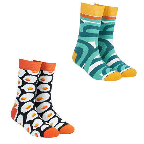 Dynamocks Cotton Excellence Socks | India | #13 Super Saver Pack | Unisex Crew Length Socks | Pack of 2 Pairs