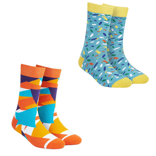 Dynamocks Cotton Excellence Socks | India | #12 Super Saver Pack | Unisex Crew Length Socks | Pack of 2 Pairs