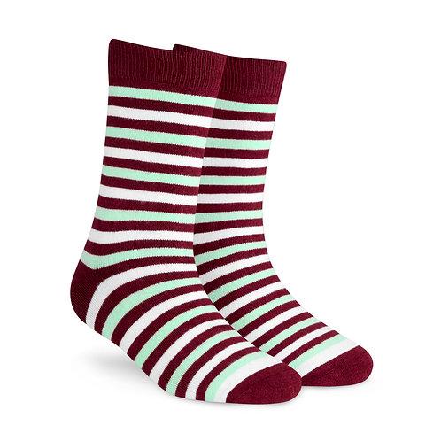 Dynamocks Savvy Excellence Socks | India | Stripes 3.0 Crew Length Socks R