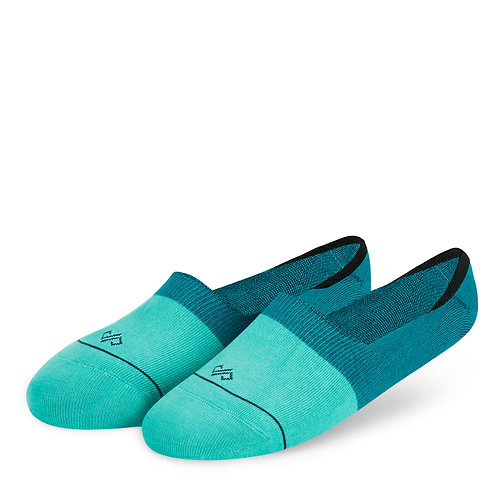 Dynamocks Invisibles Socks | India | Dual Solid Turquoise & Teal Blue