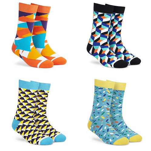 Dynamocks Cotton Excellence Socks | India | #1 Super Saver Pack | Unisex Crew Length Socks | Pack of 4 Pairs