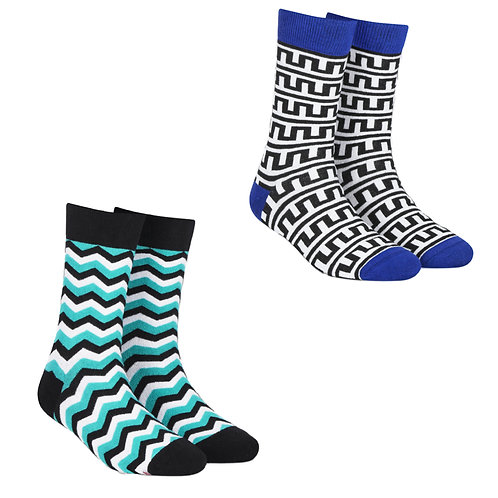 Dynamocks Cotton Excellence Socks | India | #10 Super Saver Pack | Unisex Crew Length Socks | Pack of 2 Pairs