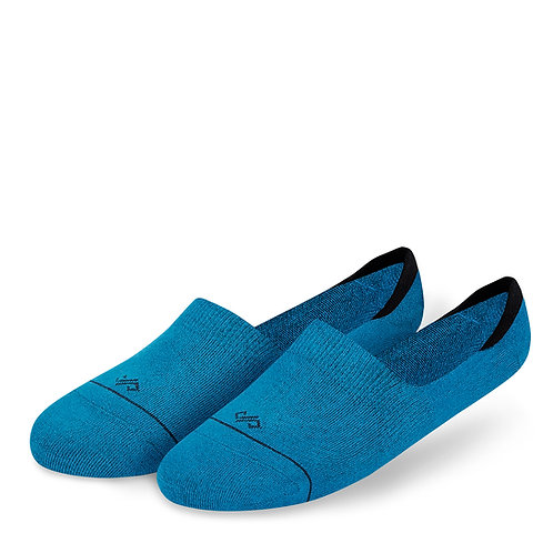 Dynamocks Invisibles Socks | India | Solids Collection | Teal Blue