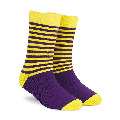 Stripes DUO 2.0 men and women crew length socks right angle
