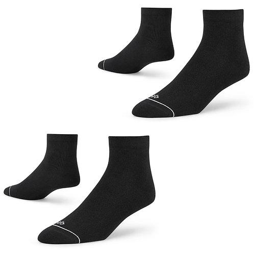 Dynamocks Black ankle length socks for men and women - pack of 2 pairs