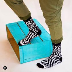 Dynamocks Mono Men & Women Crew Length Socks