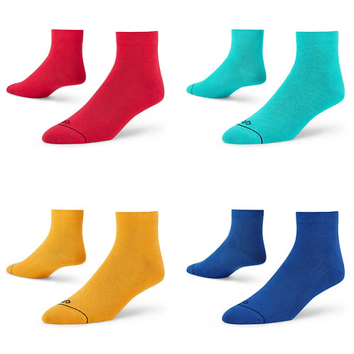 Dynamocks ankle length socks for men and women - Pack of 4 pairs