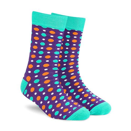 Dynamocks Fizzy Purple Crew Length socks for men and women India