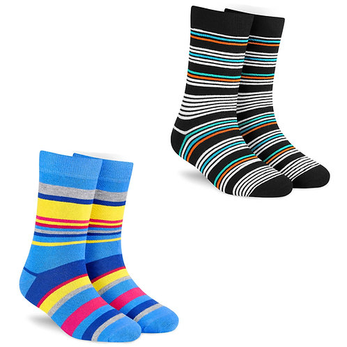 Dynamocks Stripes Collection for Men & Women - Pack of 2 pairs