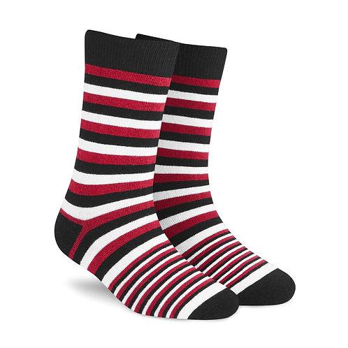 Dynamocks Savvy Excellence Socks | India | Stripes X 1 (Red + Black + white) L