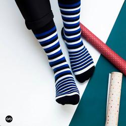 Dynamocks Stripes X Men & Women Crew Length Socks