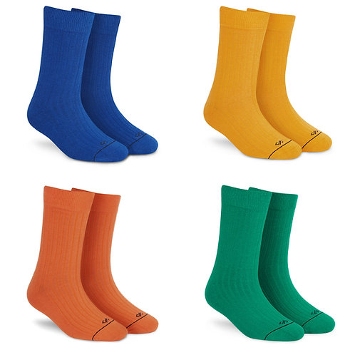 Dynamocks Solid Crew - Pack of 4 pairs #3