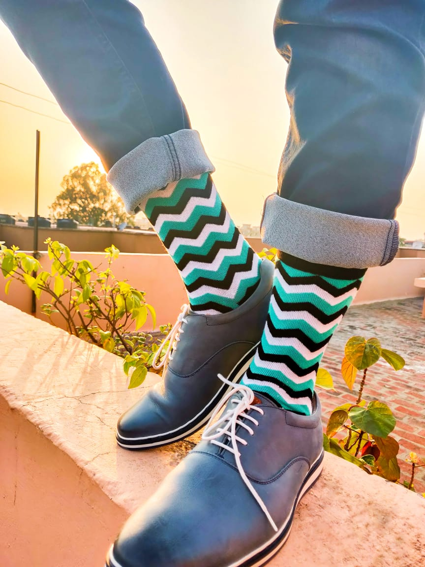 Dynamocks - Mint Crew Length Socks
