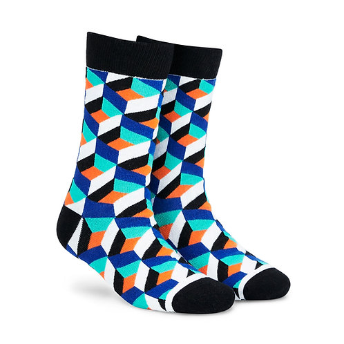 Dynamocks Cotten Excellence Socks | India | Cube Crew Length Socks R