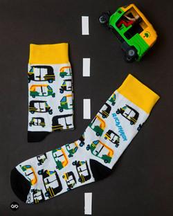 Dynamocks Rickshaw Men & Women Crew Length Socks