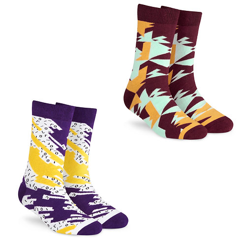 Dynamocks Cotton Excellence Socks | India | Unisex Crew Length Socks | Pack of 2 Pairs | Ritz + Techno