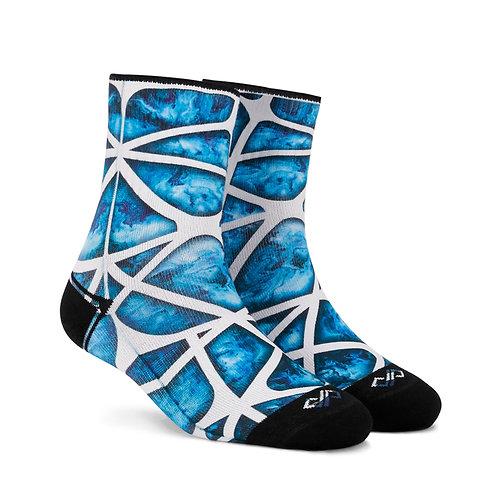 Dynamocks Artistic Socks | India | Aqua Celestia Quarter Ankle Length Socks R