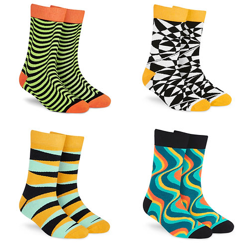 Dynamocks Cotton Excellence Socks | India | #10 Super Saver Pack | Unisex Crew Length Socks