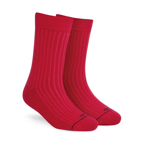 Dynamocks Savvy Excellence Socks | India | Solid Red Crew Length Socks R