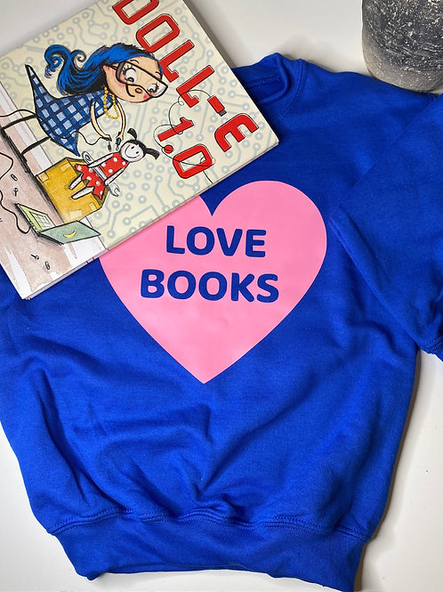 LOVE BOOKS Sweatshirt -Youth