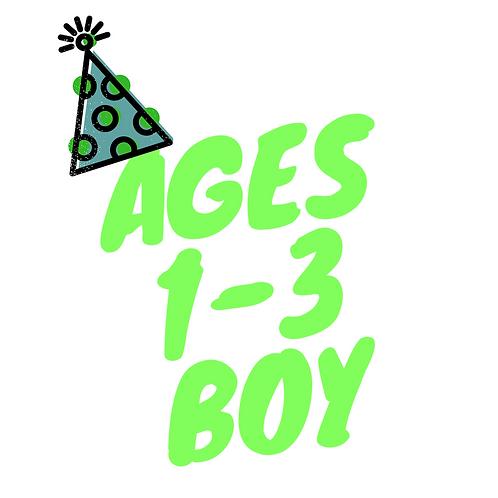 Birthday BOOK Box (Boy: Ages 1-3)