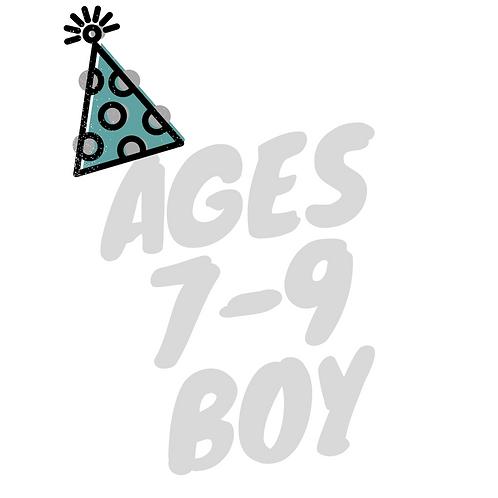 Birthday BOOK Box (Boy: Ages 7-9)