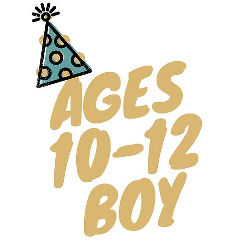 Birthday BOOK Box (Boy: Ages 10 - 12)