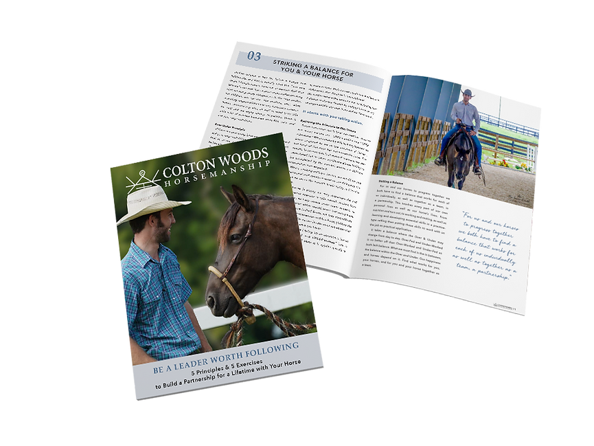 Be a Leader Worth Following Colton Woods Horsemanship